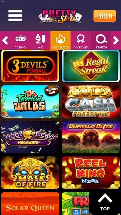 Pretty slots games page