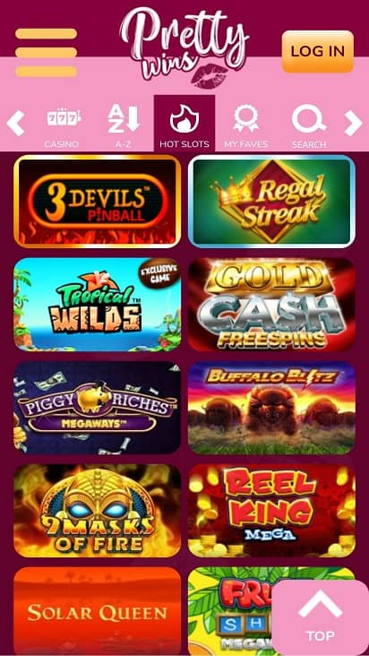 Pretty wins games page