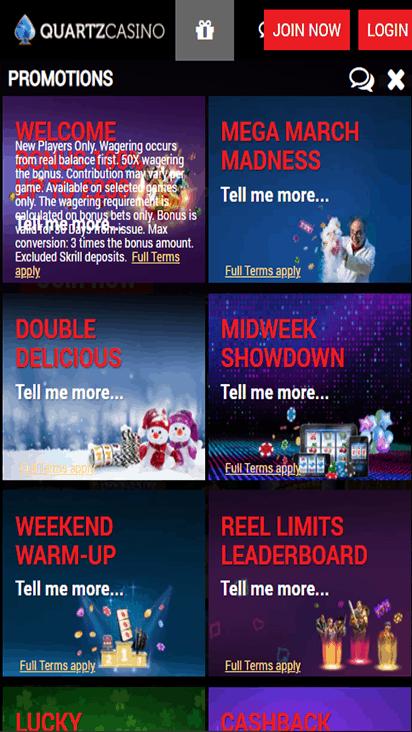 Quartz Casino promo