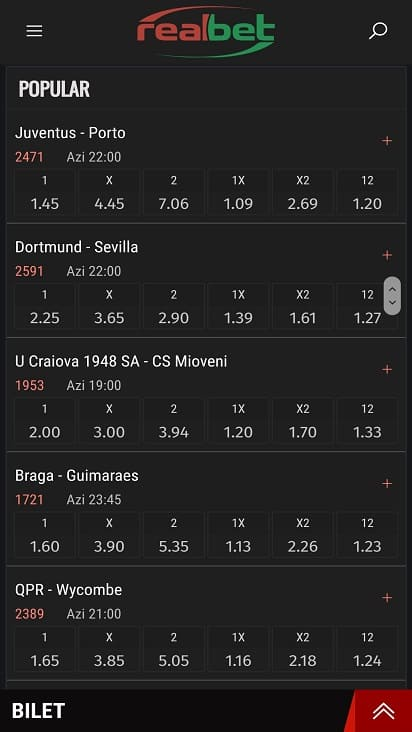 Real bet games page