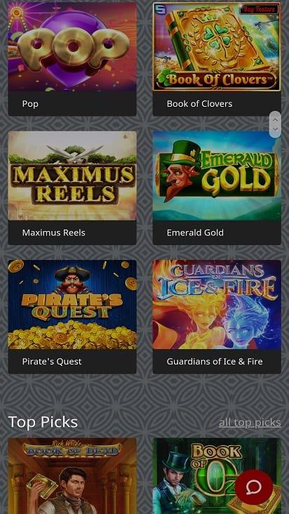 Redstar casino1 games page
