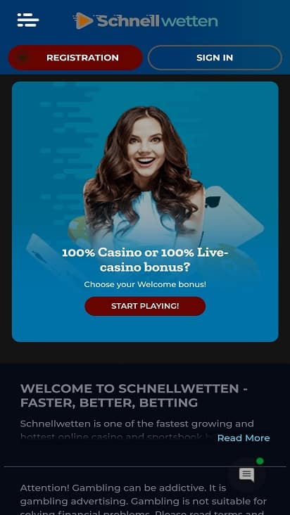 Schnellwetten promotions page