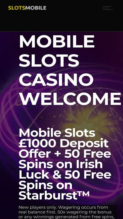 Slots mobile home page