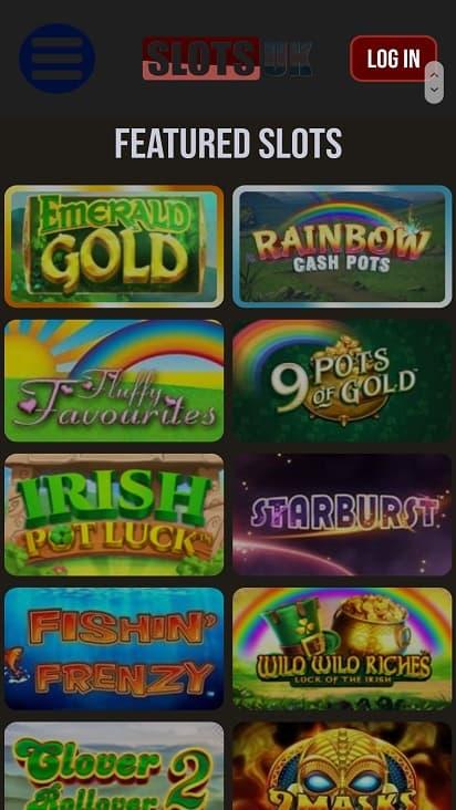 Slots uk games page