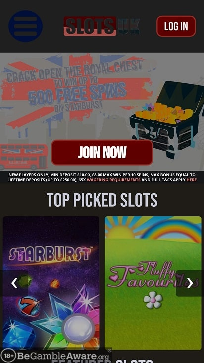 Slots uk home page