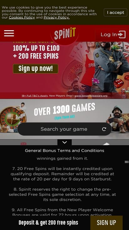 Spin it home page