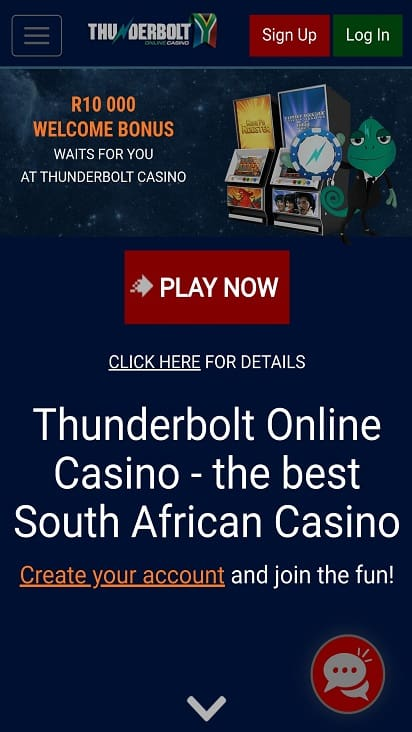 Thunderbolt casino home page