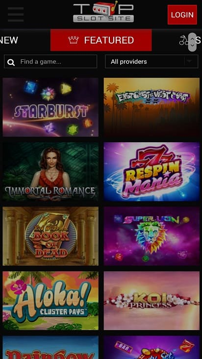 Top slot site games page
