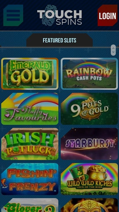 Touch spins games page