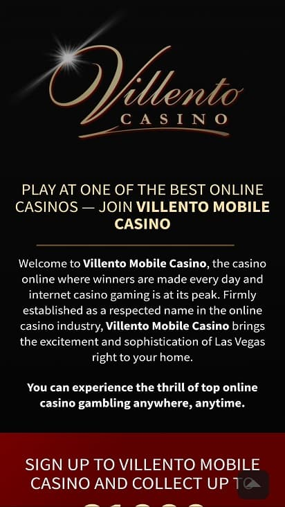 Villento Home page