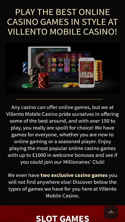 Villento games page