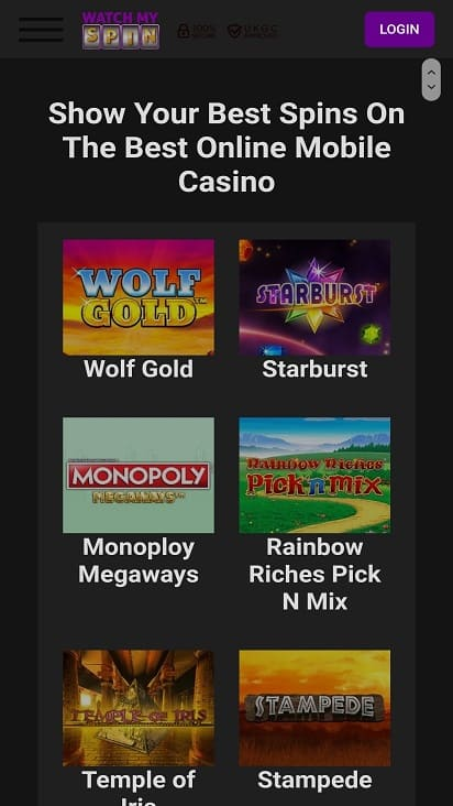 Watch my spin games page