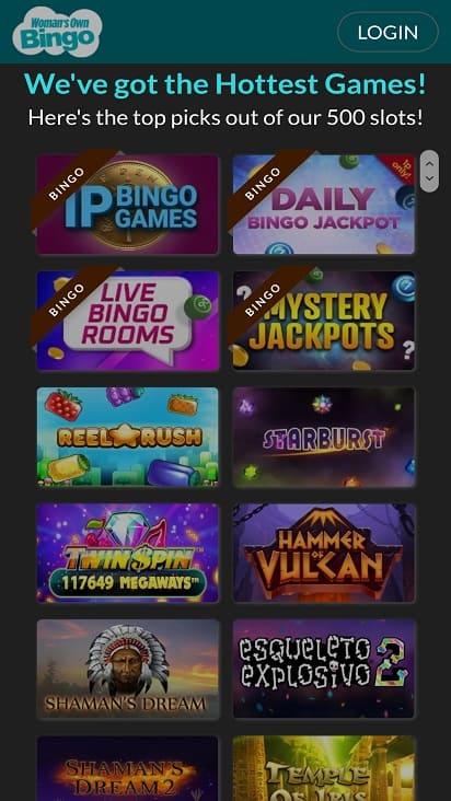 Woman's own bingo games page