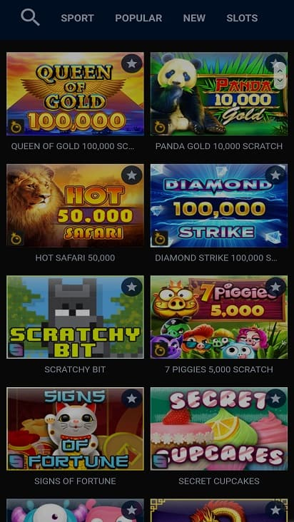 Zigzag777 games page