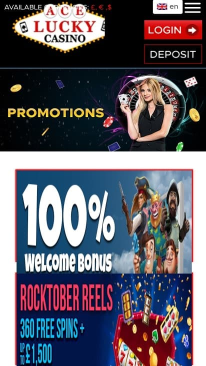 ace lucky casino promotions page