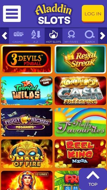 aladdin slots games page