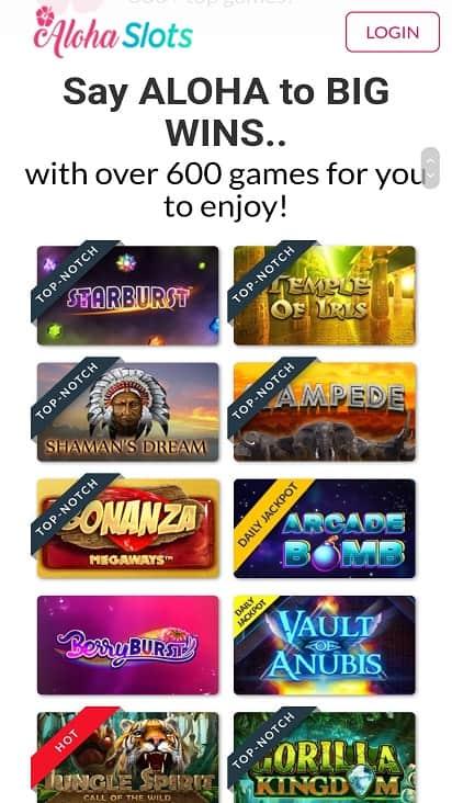 aloha slots games page