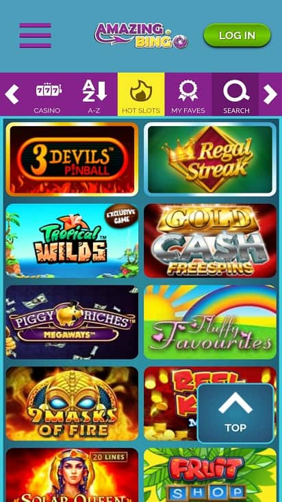 amazing bingo games page