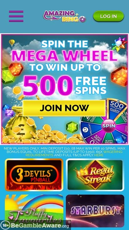amazing bingo home page