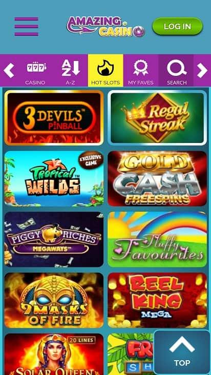 amazing casino games page