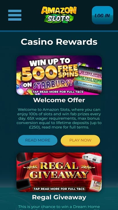 amazon slots promotions page