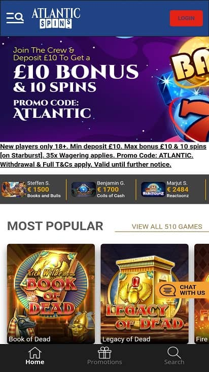 atlantic spins games page