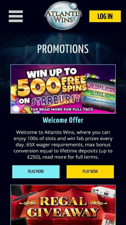 atlantic wins promotions page