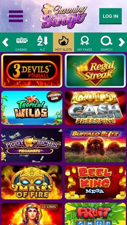 charming bingo games page