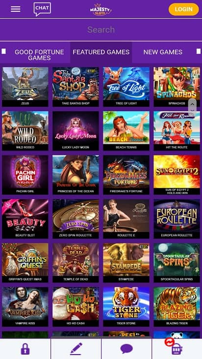 majesty slots games page