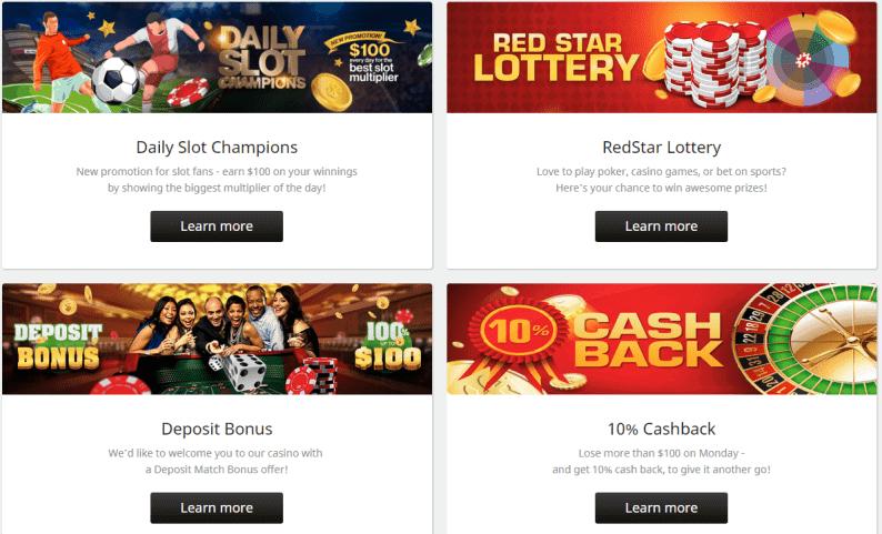 redstar casino promo