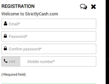 strickly cash sign up