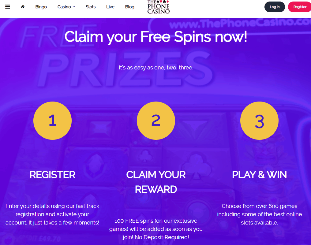 the phone casino promotions