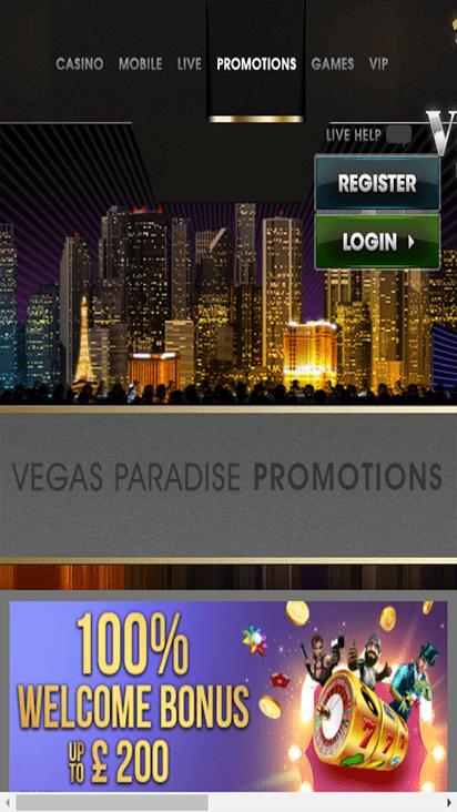 vegasparadise promo