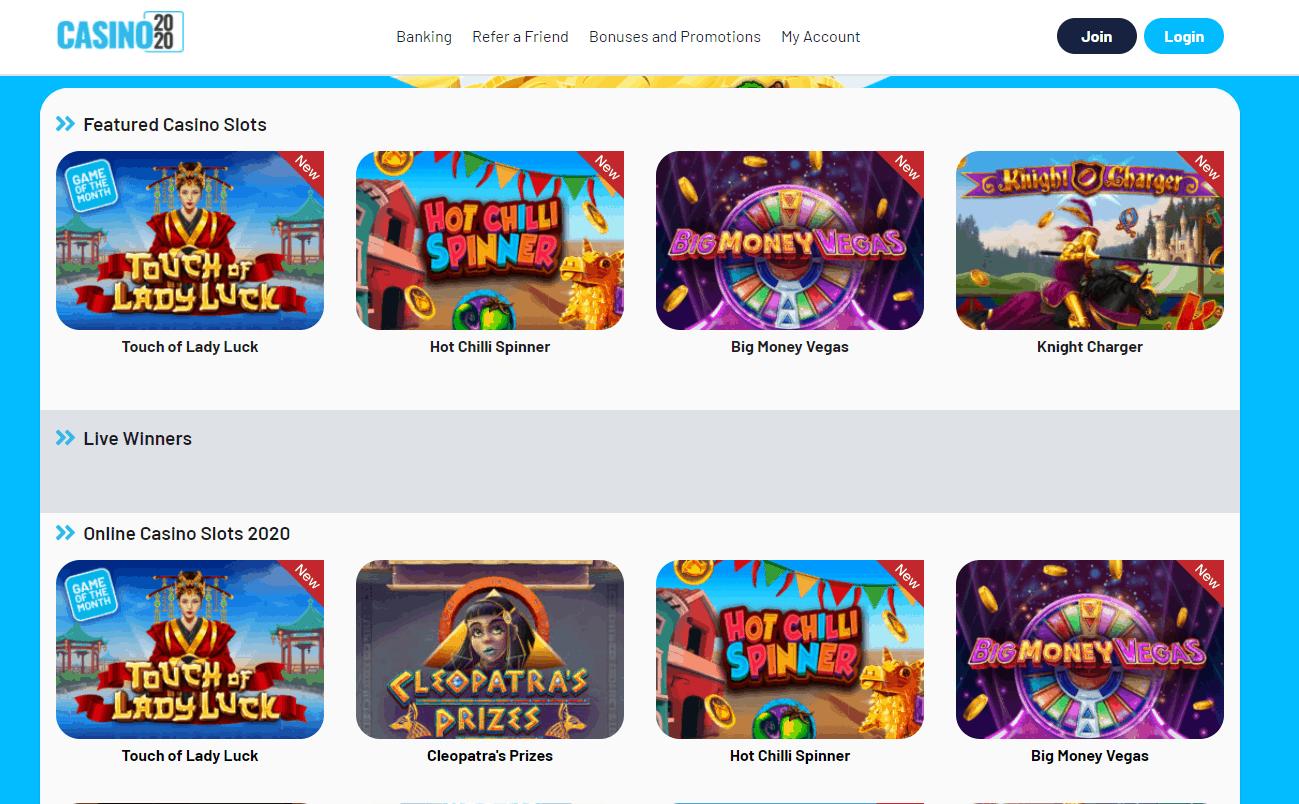 casino 2020 games